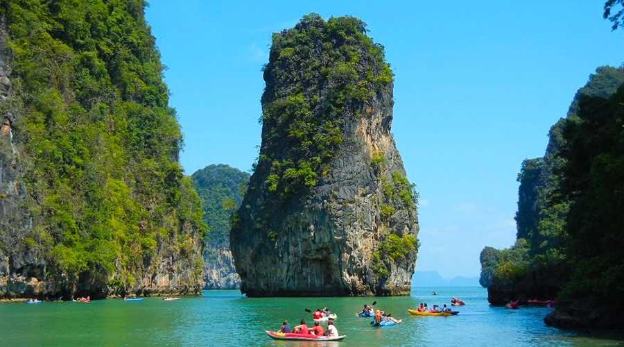 James Bond Island + See Canoe. by Longtail Boat